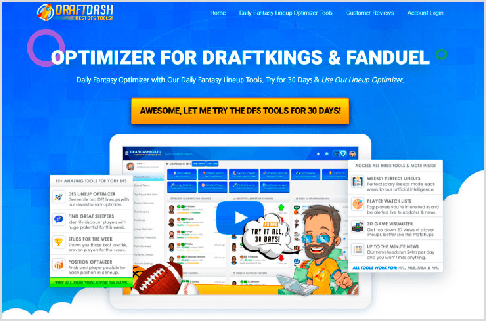 Draft Dashboard Review – Your Best DFS Optimizer